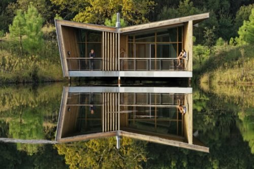 Modge En Bois Terrasse Privative Sur Etang Les Echasses