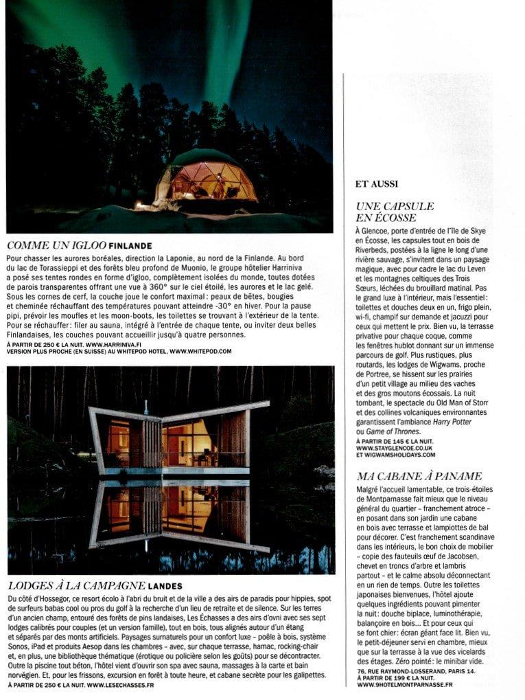 Lui Magazine Ecolodge Les Echasses