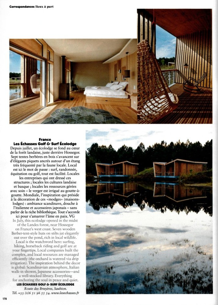 Air France Magazine Ecolodge Les Echasses