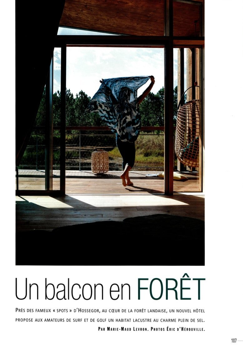 Côté Ouest Magazine Ecolodge Les Echasses 2