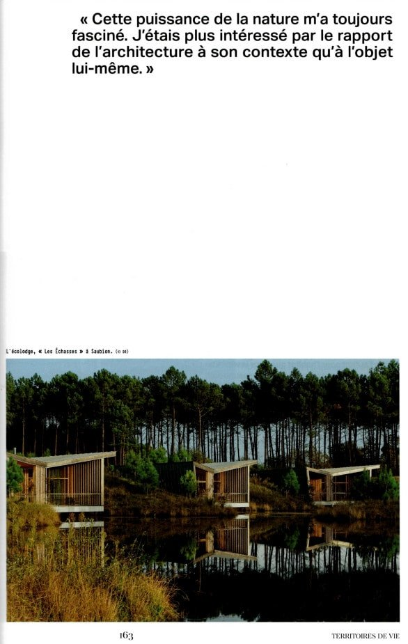 Design Magazine Ecolodge Les Echasses