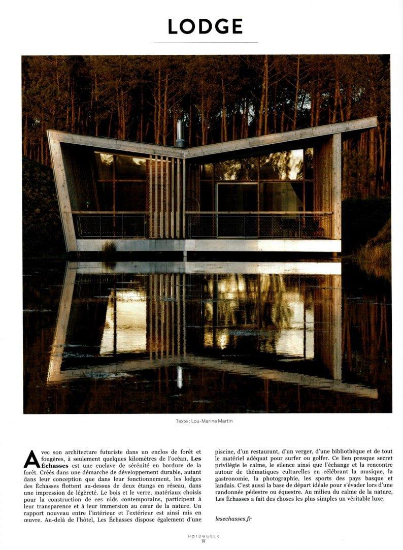 Hotdogger Magazine Ecolodge Les Echasses