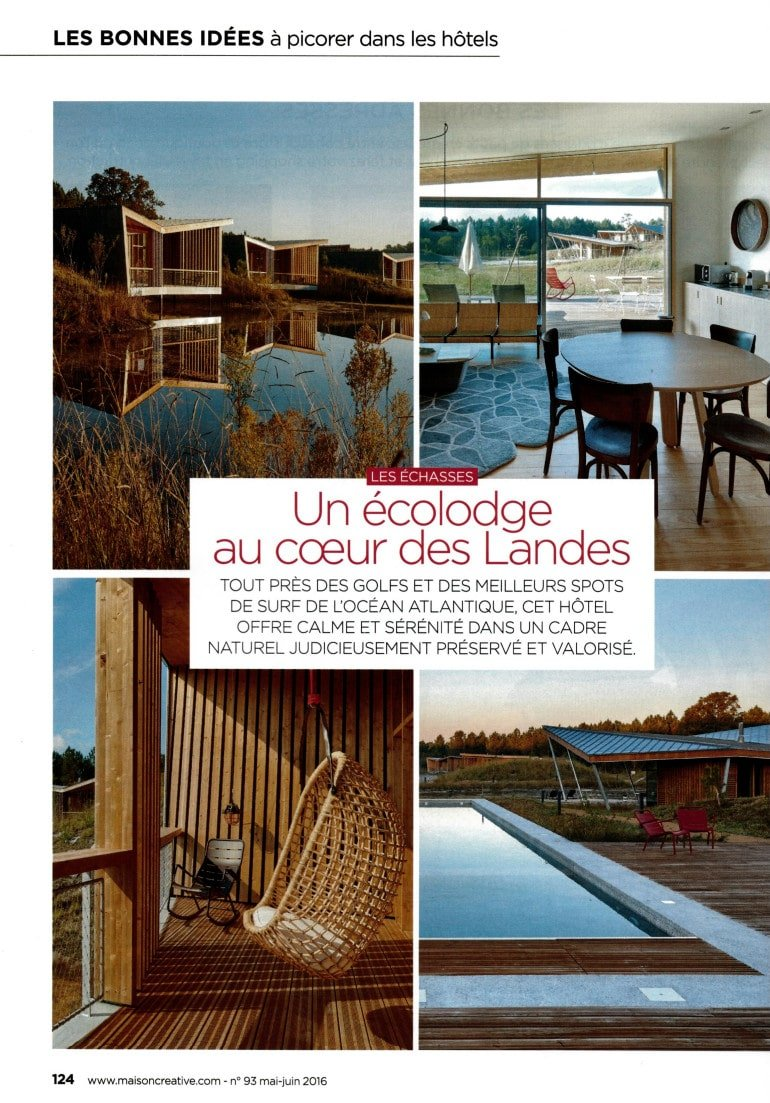 Maison Créative Magazine Ecolodge Les Echasses